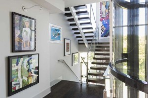 Four-story townhome suits energetic, art-loving couple