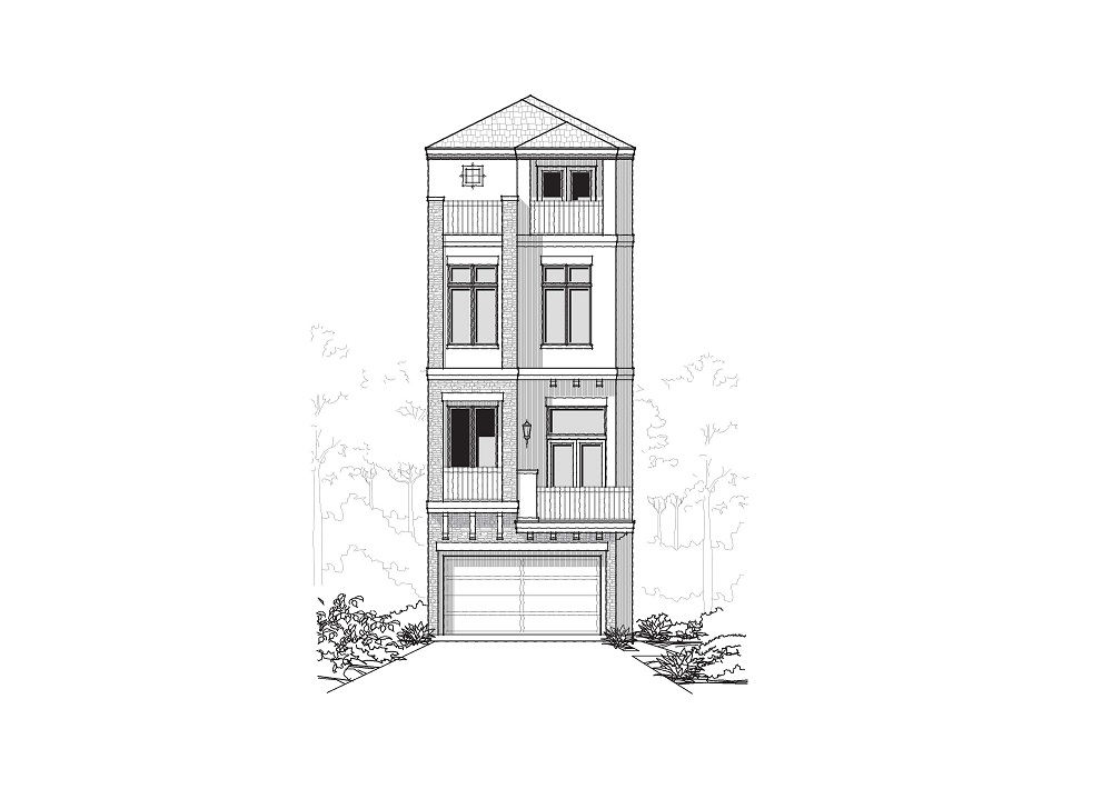 Front Elevation - 610 W Bell - 6.12.18 - Copy